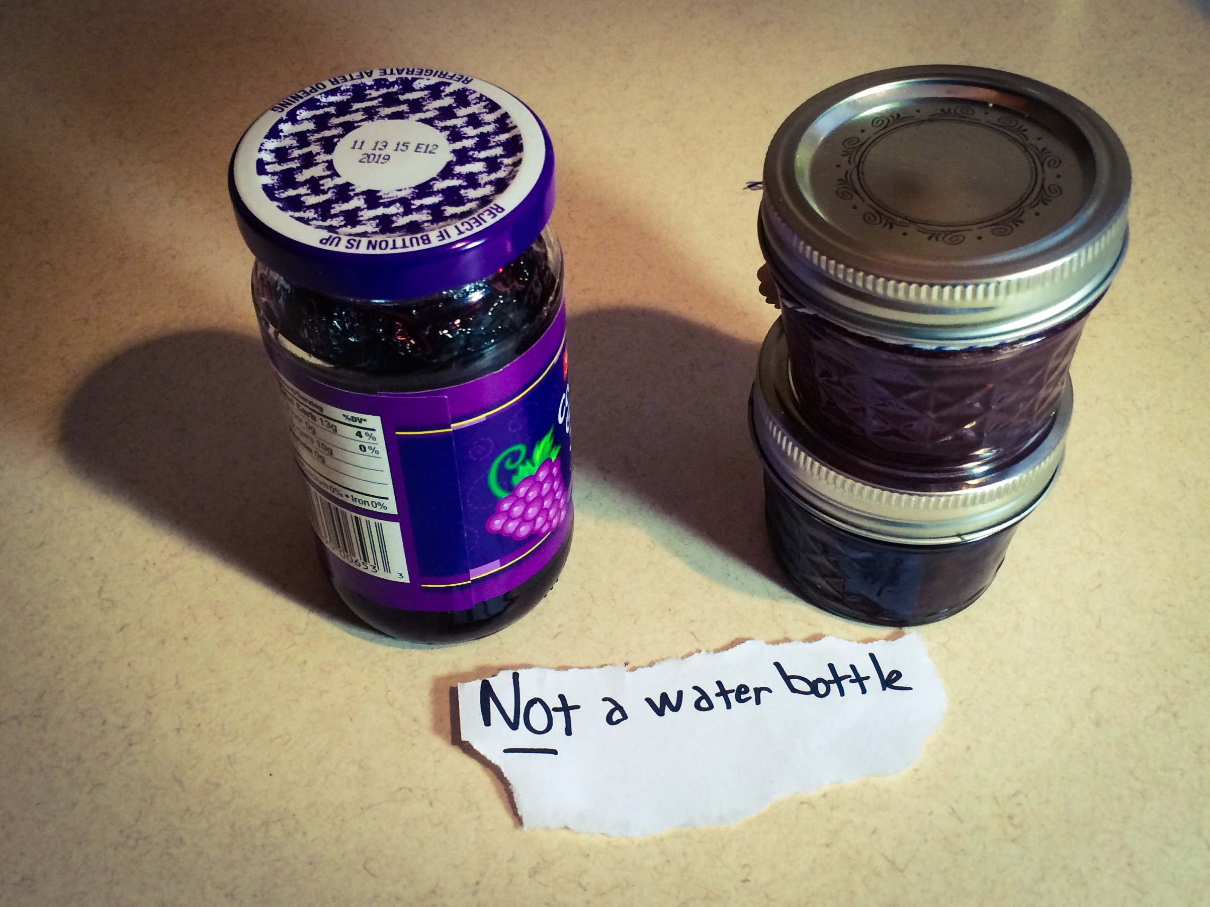 Not Water Bottles